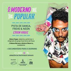 O Moderno Popular com Edson Vogue no dia 21 de Novembro